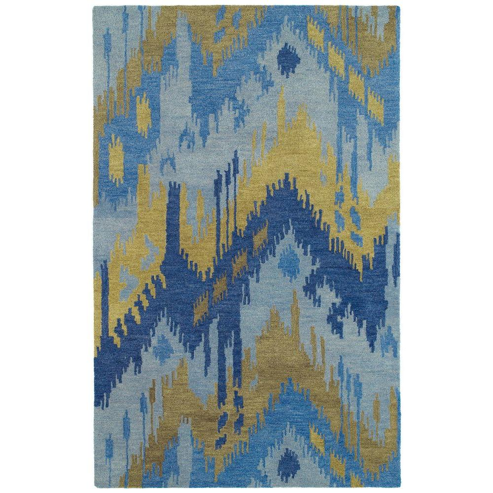 Casual Castaway Blue 3 ft. x 5 ft. Area Rug