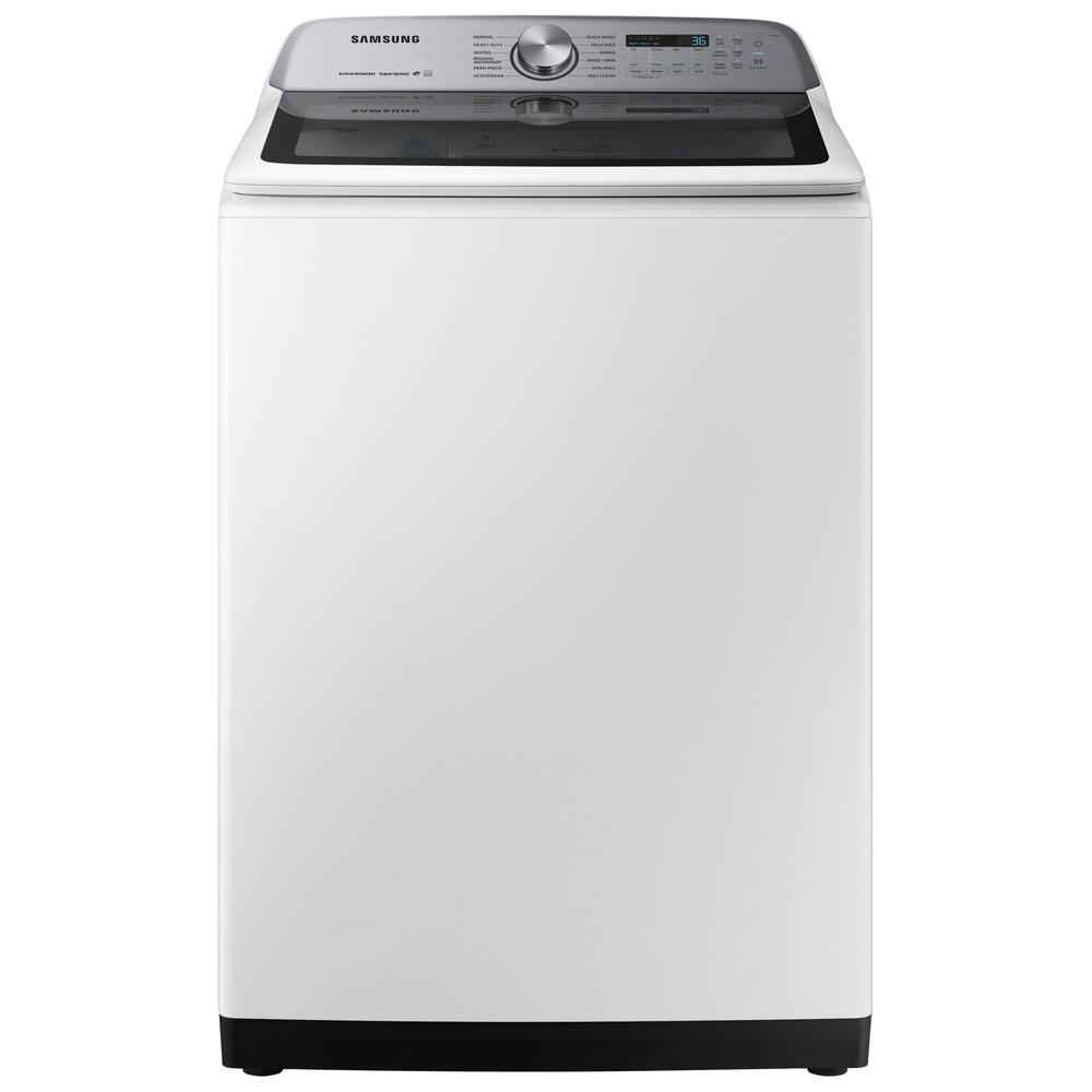 Samsung 5.0 cu. ft. High-Efficiency in White Top Load Washing Machine with Super Speed, ENERGY STAR