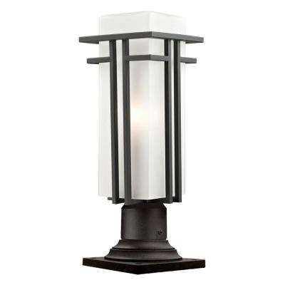 Lawrence 1-Light Outdoor Oil Rubbed Bronze Pier Mount Light