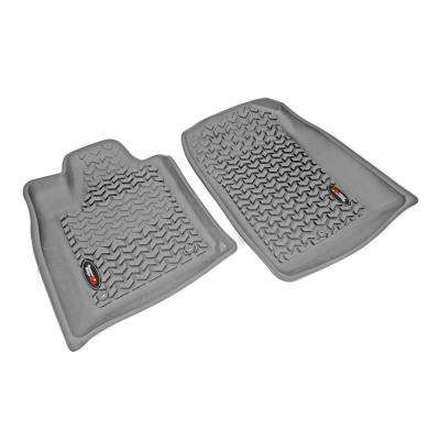 Floor Liner Front Pair Gray 2011-2012 Durango and Jeep Gr and Cherokee