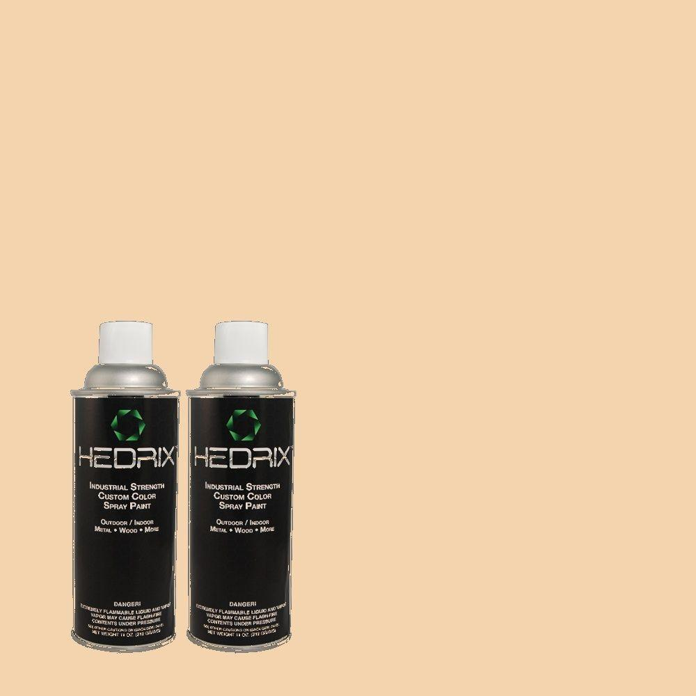 Hedrix 11 oz. Match of PPU3-7 Pale Coral Flat Custom Spray Paint (2-Pack)