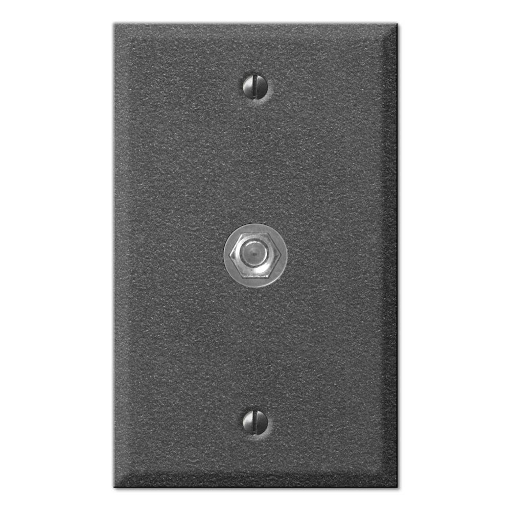 Creative Accents Pewter 1 Video Wall Plate - Antique Pewter-DISCONTINUED
