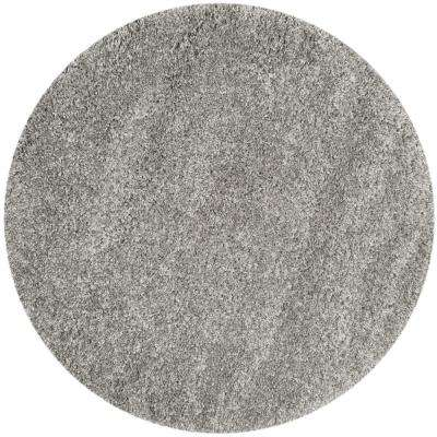 California Shag Silver 8 ft. 6 in. x 8 ft. 6 in. Round Area Rug
