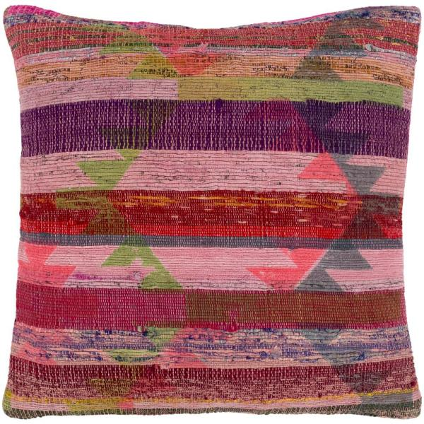 Yuliy Pink Graphic Polyester 3In. x 3In. Throw Pillow