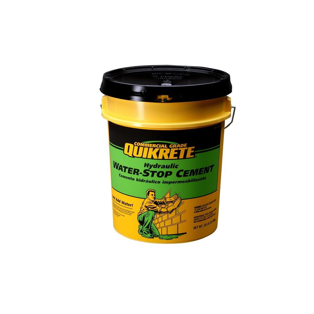 50 lb. 5 Gal. Hydraulic Water-Stop Cement Concrete Mix