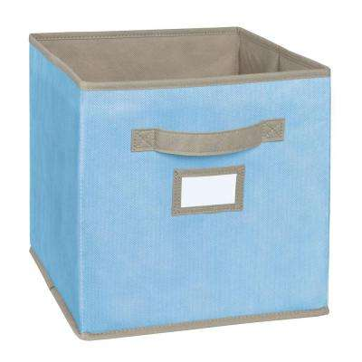 10.5 in. W x 11 in. H x 10.5 in. D Light Blue Fabric Drawer