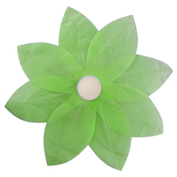 Lumabase Green Floating Lotus Lanterns (6-Count) 56606