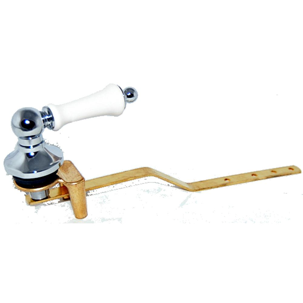 Toilet Tank Lever for Toto Toilets in Chrome with Bone Handle