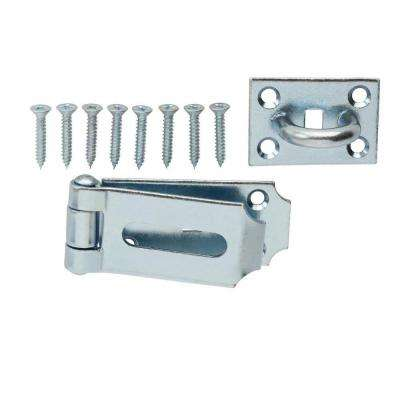 7-1/2 in. Zinc Plated Fixed Staple Hinge Hasp
