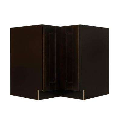 Anchester Assembled 33 in. x 34.5 in. x 24 in. Base Lazy Susan Cabinet in Dark Espresso