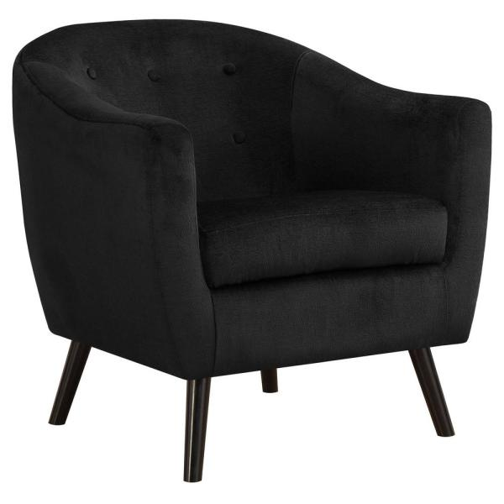 Black Mosaic Velvet Accent Chair
