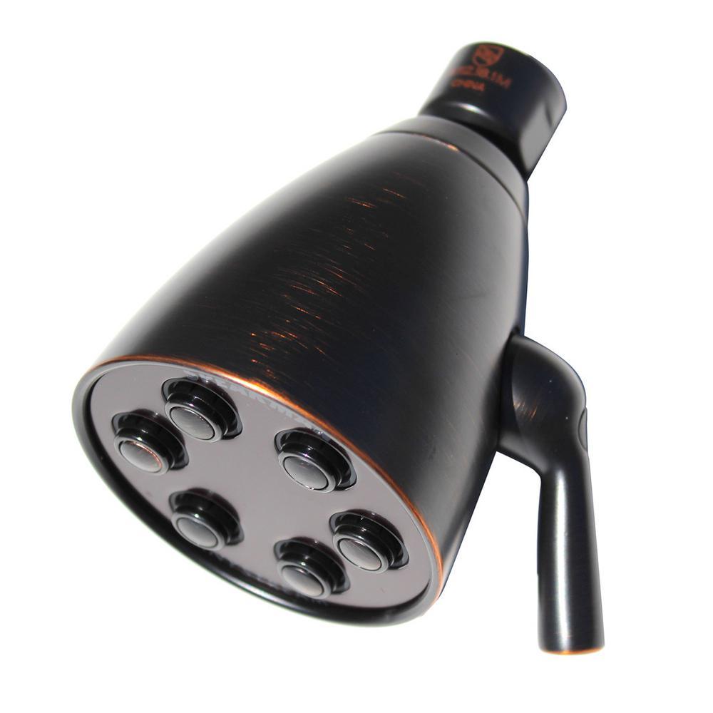 Anystream Icon 3-Spray 2.75 in. Signature Brass 2.0 GPM Fixed Showerhead in Oil-Rubbed Bronze