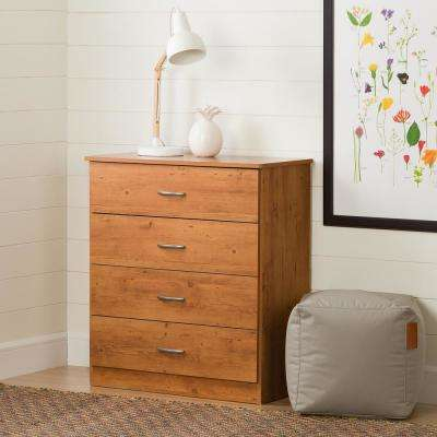 Libra 4-Drawer Country Pine Chest