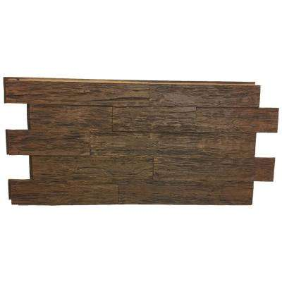 Time Weathered Faux Rustic Panel 1-1/4 in. x 48 in. x 23 in. Coffee Bean Polyurethane Interlocking Panel
