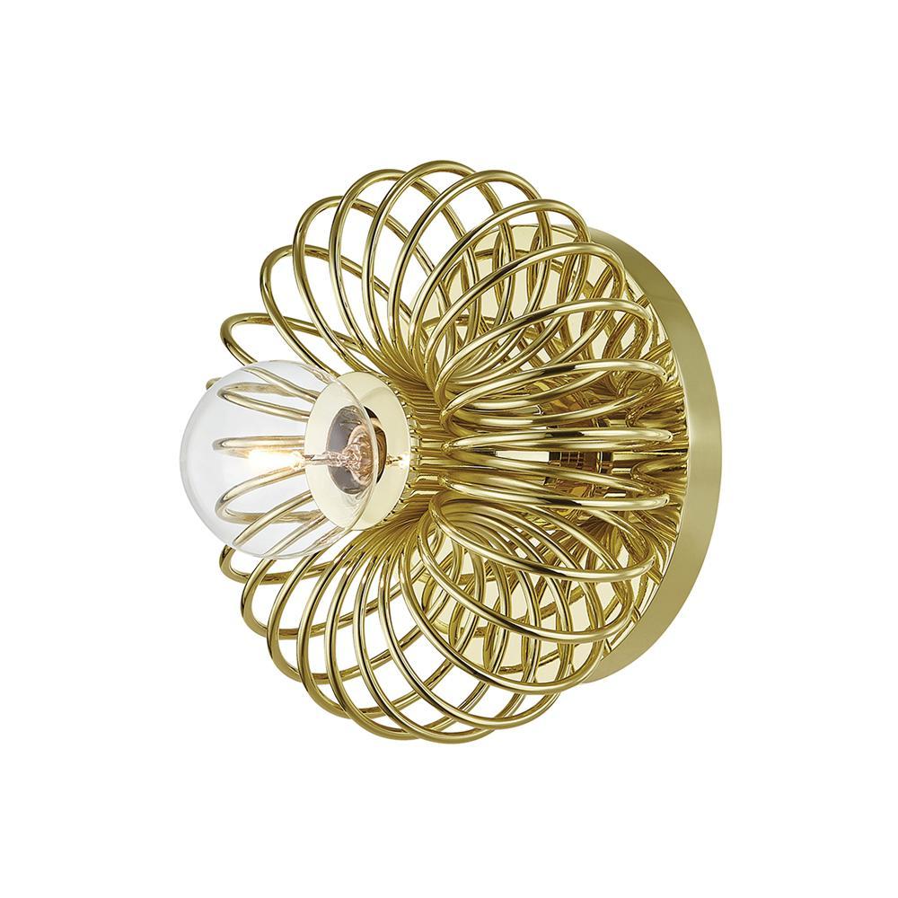 Serena 1-Light Polished Brass Bath Light
