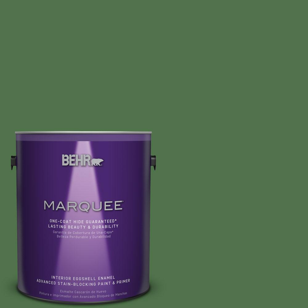 BEHR MARQUEE 1 gal. #MQ4-49 Emerald Forest One-Coat Hide Eggshell Enamel Interior Paint