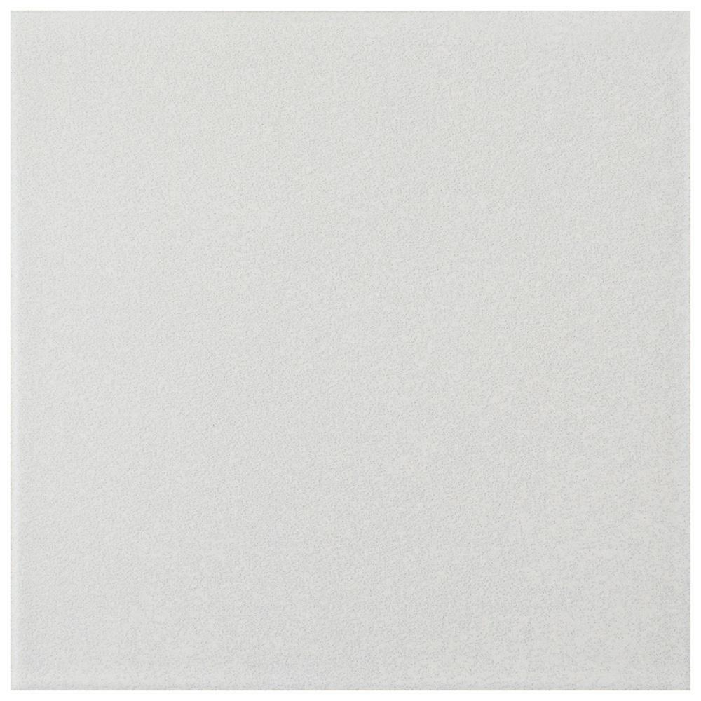 Twenties White 7-3/4 in. x 7-3/4 in. Ceramic Floor and Wall Tile
