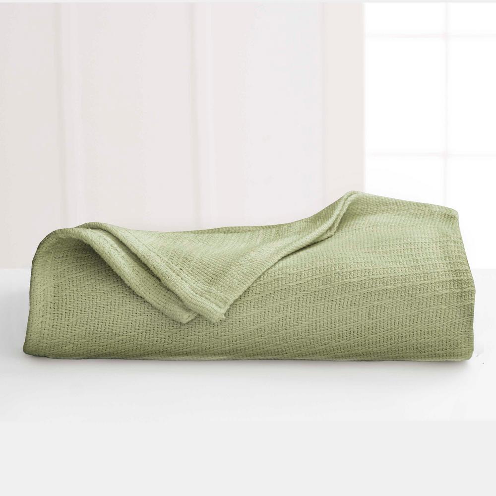 vellux cotton sage cotton king blanket-026705002163