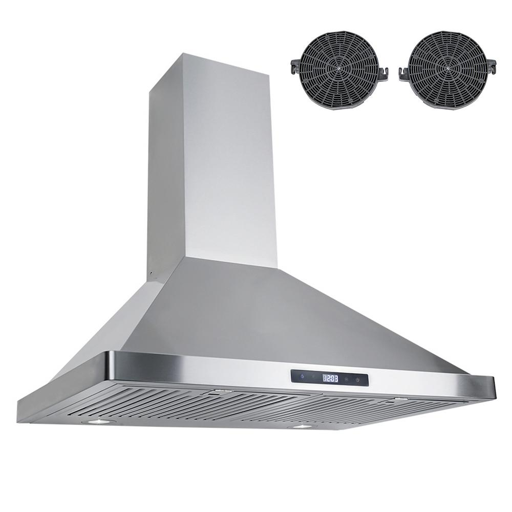 Cosmo 30 In Ductless Wall Mount Range Hood In Stainless