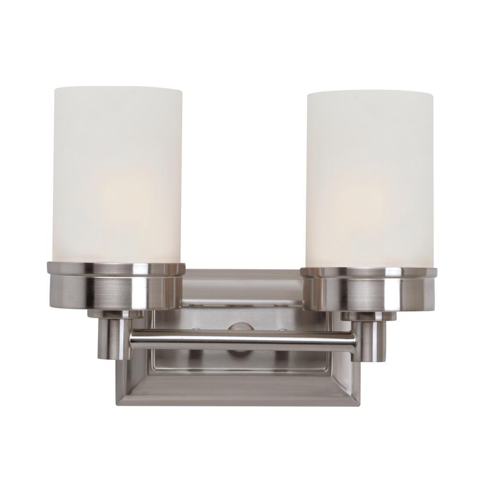 Fusion 2-Light Brushed Nickel Bath Light