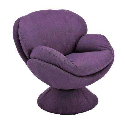 Comfort Chair Rio Purple Fabric Leisure Chair