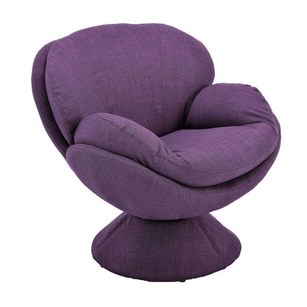 Comfort Chair Rio Purple Fabric Leisure Chair