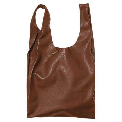Leather Tote Bag in Molases