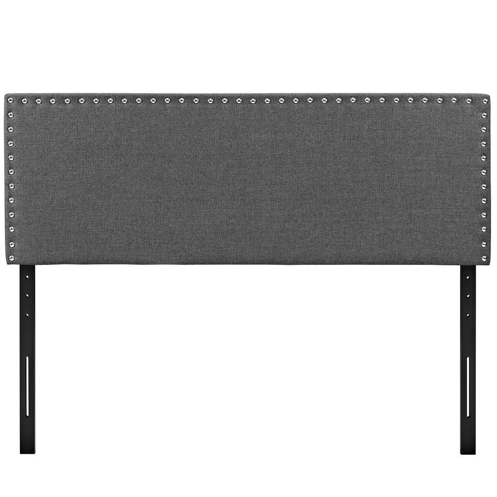 Phoebe Gray Full Upholstered Fabric Headboard