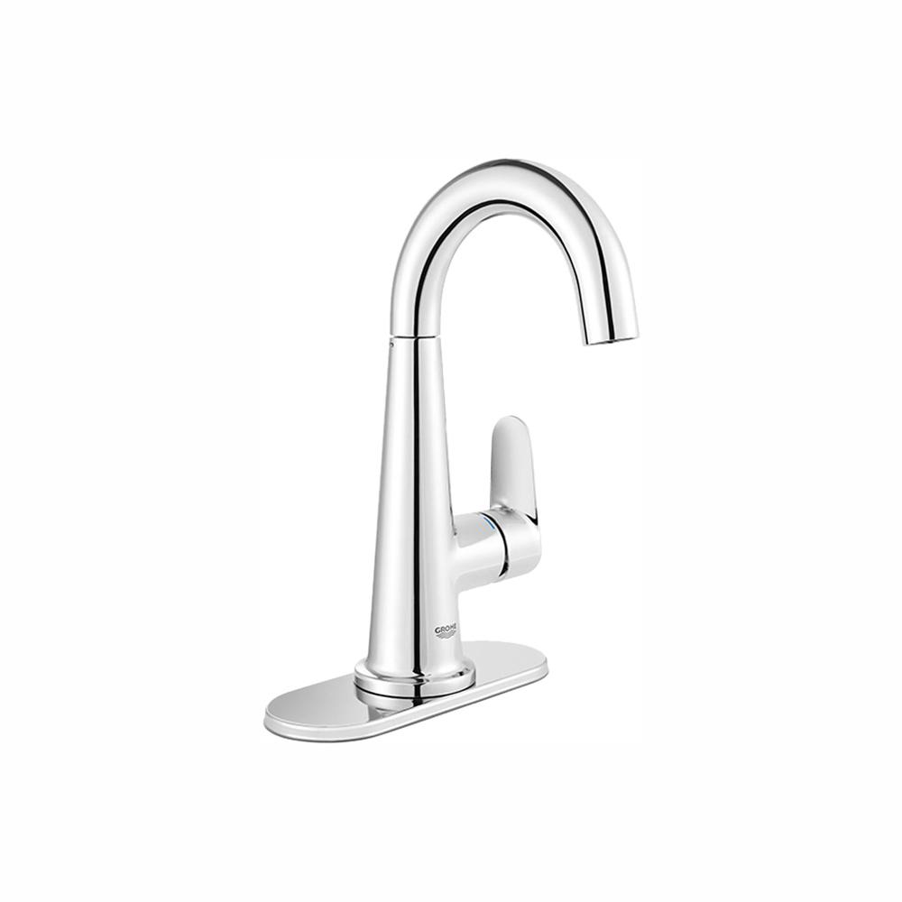 GROHE Veletto 4 in. Centerset Single-Handle Bathroom Faucet in Starlight Chrome
