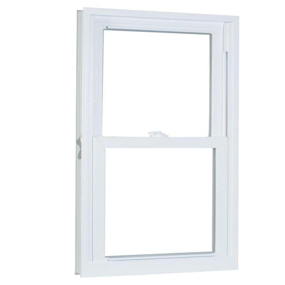 American Craftsman 33.75 in. x 65.25 in. 70 Series Double Hung Buck PRO Vinyl Window - White