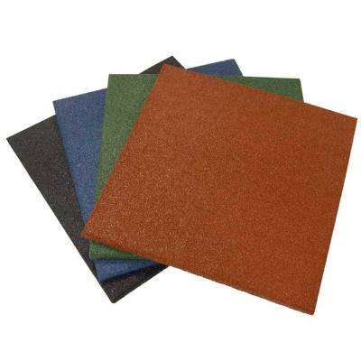 Eco-Sport 3/4 in. x 20 in. x 20 in. Green Interlocking Rubber Tiles (5-Pack, 14 sq. ft.)