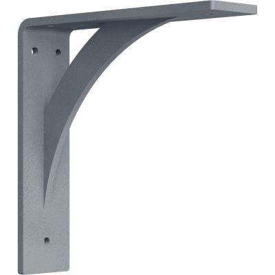 2 in. x 8 in. x 8 in. Steel Hammered Silver Legacy Bracket