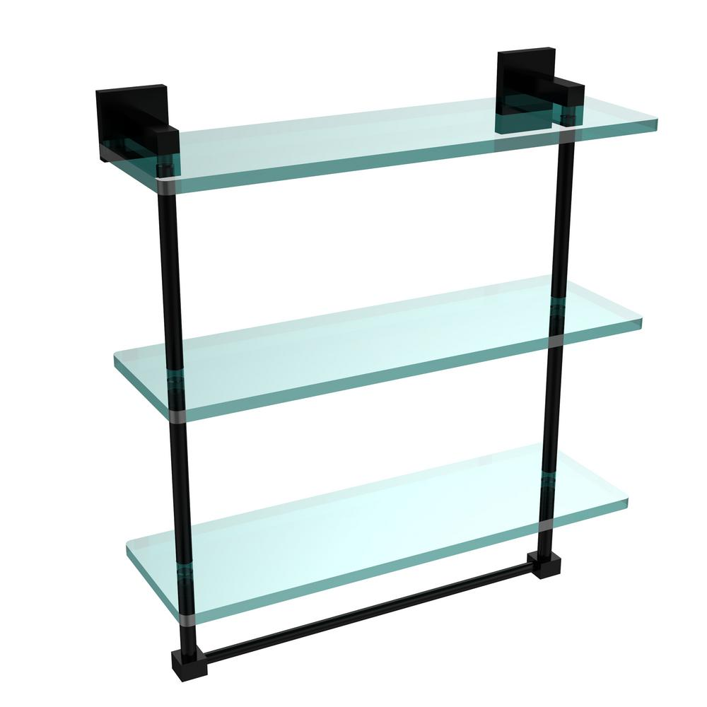 Allied Brass Montero 16 in. L x 18 in. H x 6-1/4 in. W 3-Tier Clear ...