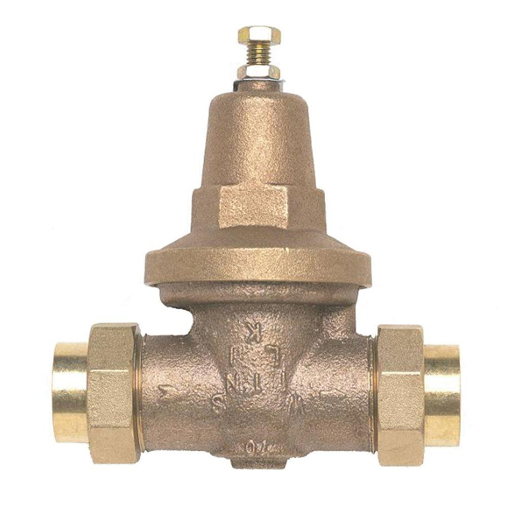 Zurn-Wilkins 3/4 in. Lead-Free Bronze Water Pressure Reducing Valve with Double Union Female Copper Sweat