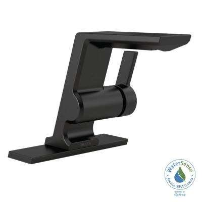 Pivotal Single Hole Single-Handle Bathroom Faucet in Matte Black