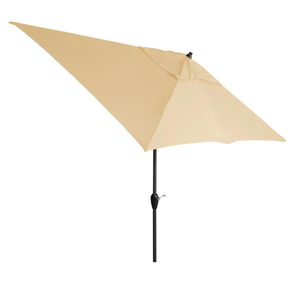 10 ft. Aluminum Tilt Patio Umbrella in Sunbrella Canvas Antique Beige
