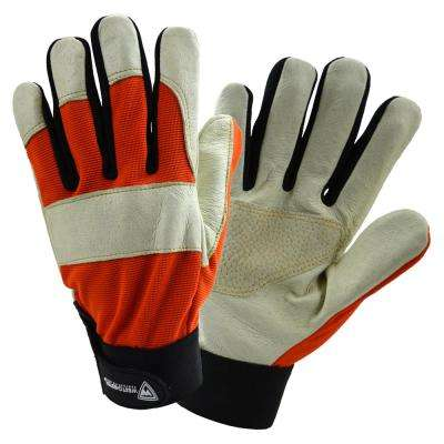 Medium Size Performance Hybrid Pig Grain Glove