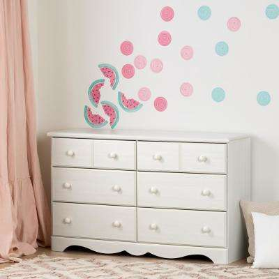 DreamIt Pink and Turquoise Watermelons and Dots Wall Decals