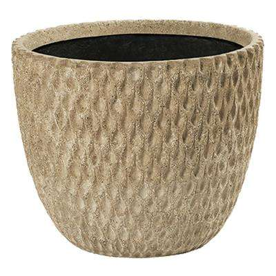 Dew 22 in. Natural LavaStone Planter