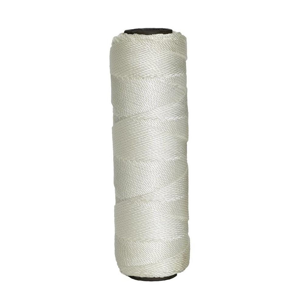 1.5 in. x 350 ft. White Twisted Nylon Line #15