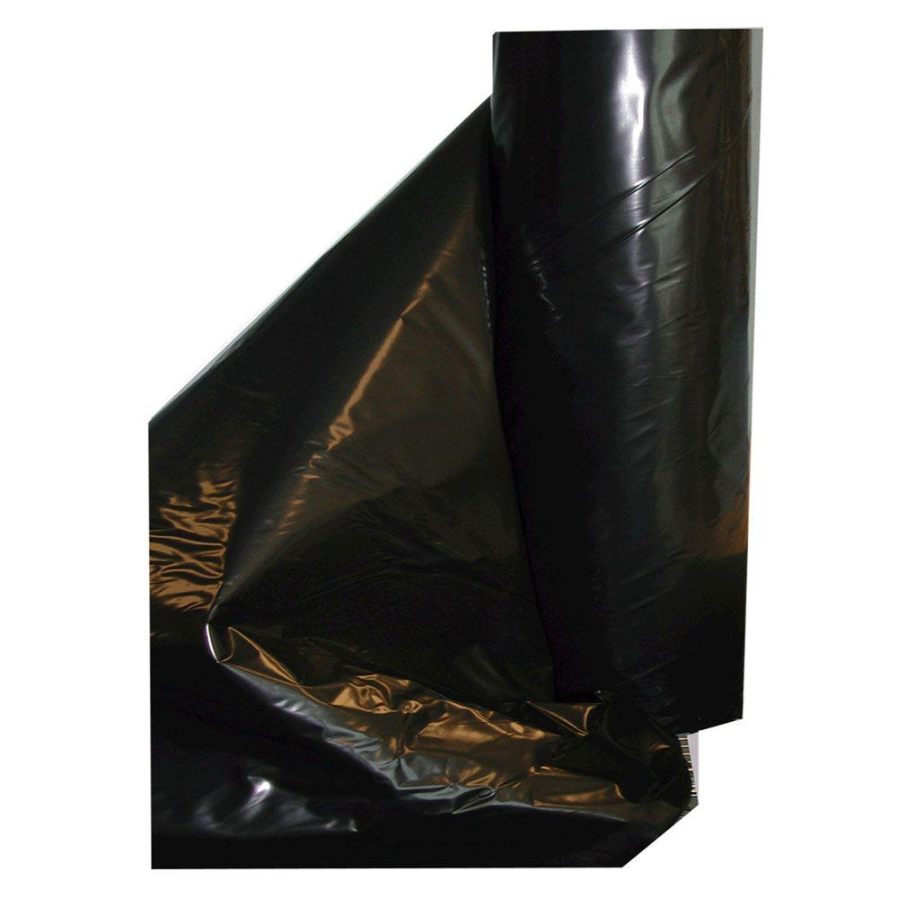 20 ft. x 100 ft. 4-mil Black Fire Retardant Poly Construction