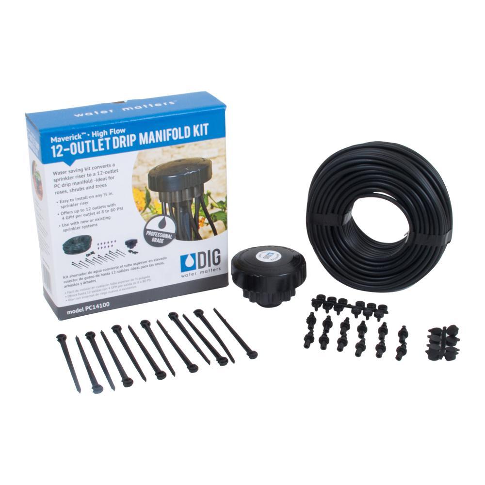 Maverick 4 GPH 12-Outlet Drip Manifold Kit