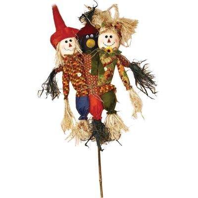36 in. Trio Scarecrow and Crow Stake