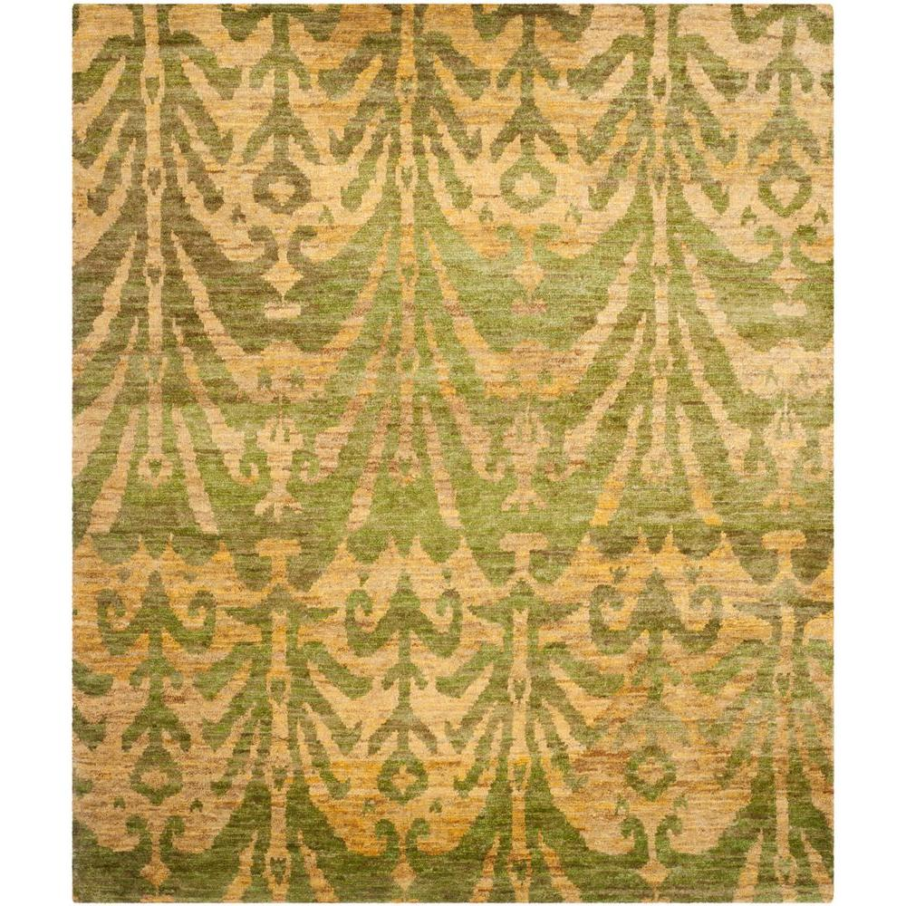 Bohemian Green/Gold 8 ft. x 10 ft. Area Rug