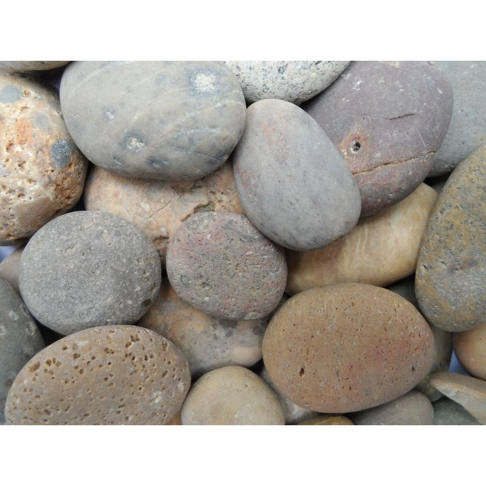 Butler Arts 0.90 cu. ft., 75 lb., 1/2 in. to 1 in. Buff Mexican Beach Pebble (40-Bag Contractor Pallet)