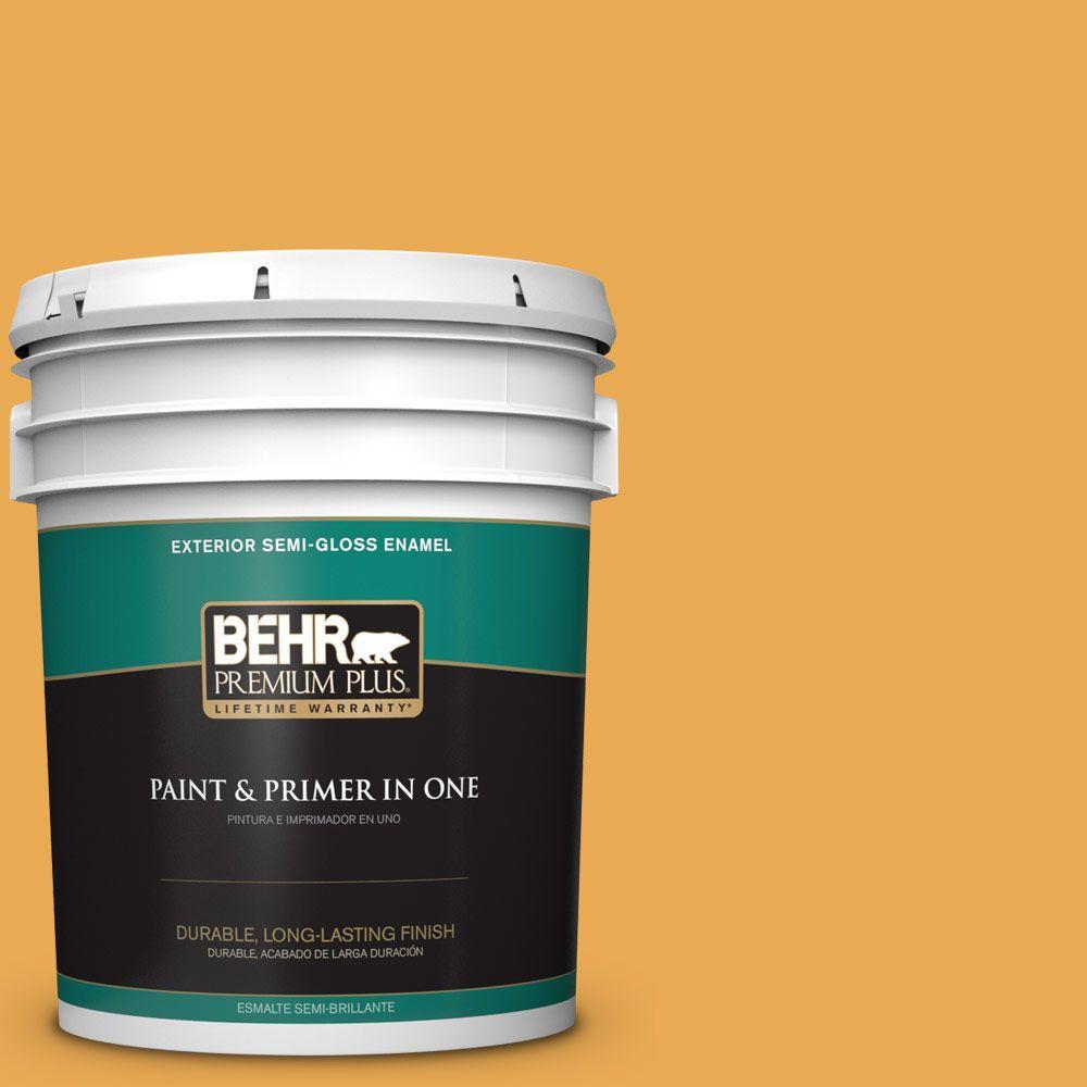 5-gal. #BIC-43 Optimist Gold Semi-Gloss Enamel Exterior Paint