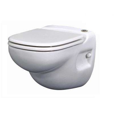 White Elongated Wall Hung One Piece Toilets Toilets The