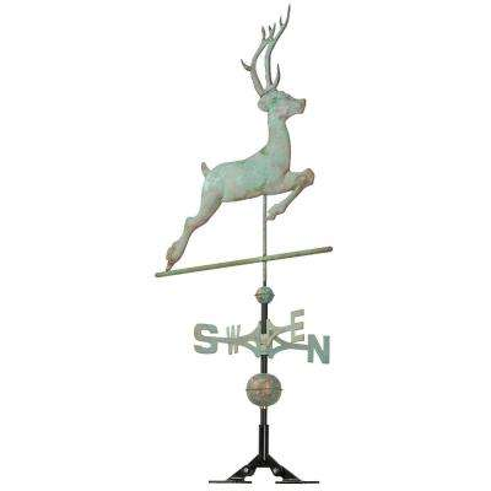 48 in. Verdigris Deer Copper Weathervane