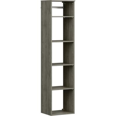 Style+ 17 in. W Coastal Teak Hanging Wood Closet Tower