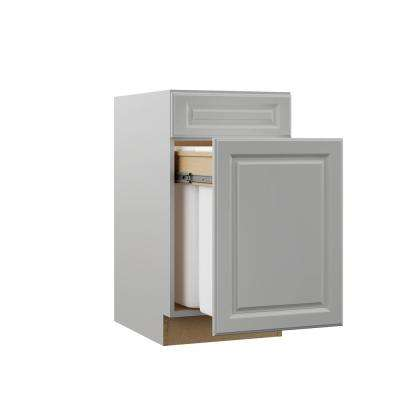 Elgin Assembled 18x34.5x23.75 in. Dual Pull Out Trash Can Base Kitchen Cabinet in Heron Gray